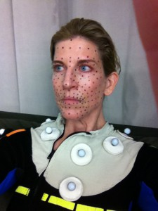 Christine Dunford prepped for video game facial capture