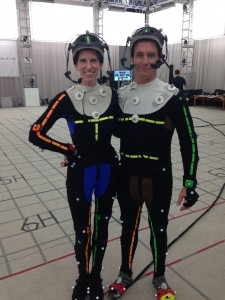 Christine Dunford Motion capture for Infamous, Second Son – with actor David Stanbra